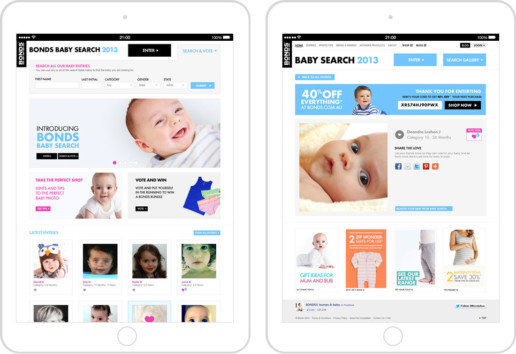 Bonds Baby Search 2013 tablet screens