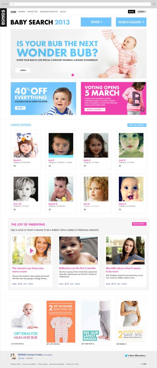 Bonds Baby Search 2013 desktop screen