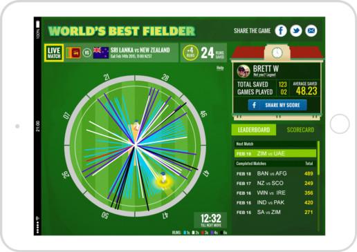 World's Best Fielder tablet interface